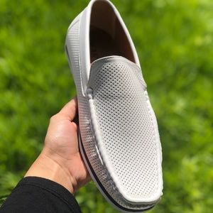 Other - White Perforated Moccasin Loafer